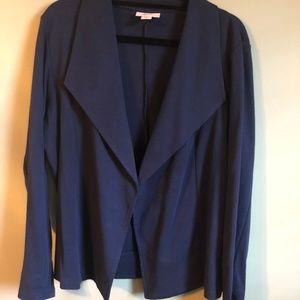 Navy Blue Blazer 100% Cotton Size L